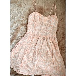 H&M Peach and White Floral Sundress